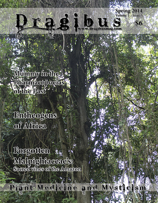 Dragibus Magazine - Entheogens of Africa, Forgotten Malpighiaceae's: Sacred vines of the Amazon, Mummy In The Pharmacopoeias Of The Past